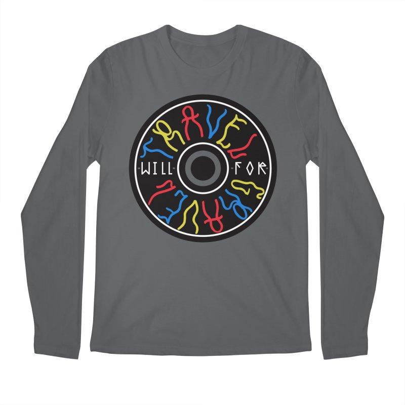 Will Travel For Gravel Men's Longsleeve T-Shirt by DustinKlein's Artist Shop