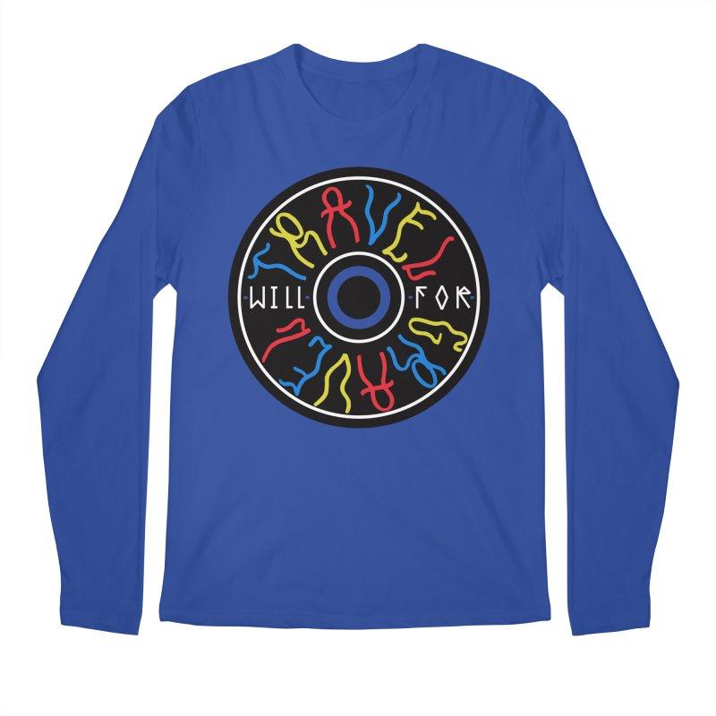 Will Travel For Gravel Men's Regular Longsleeve T-Shirt by DustinKlein's Artist Shop