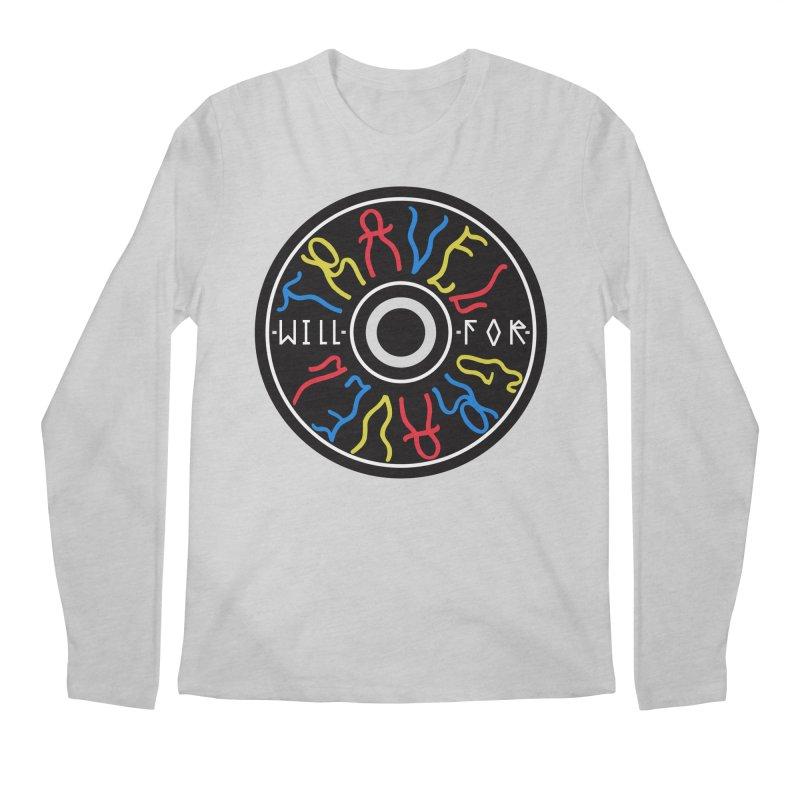 Will Travel For Gravel Men's Regular Longsleeve T-Shirt by Dustin Klein's Artist Shop