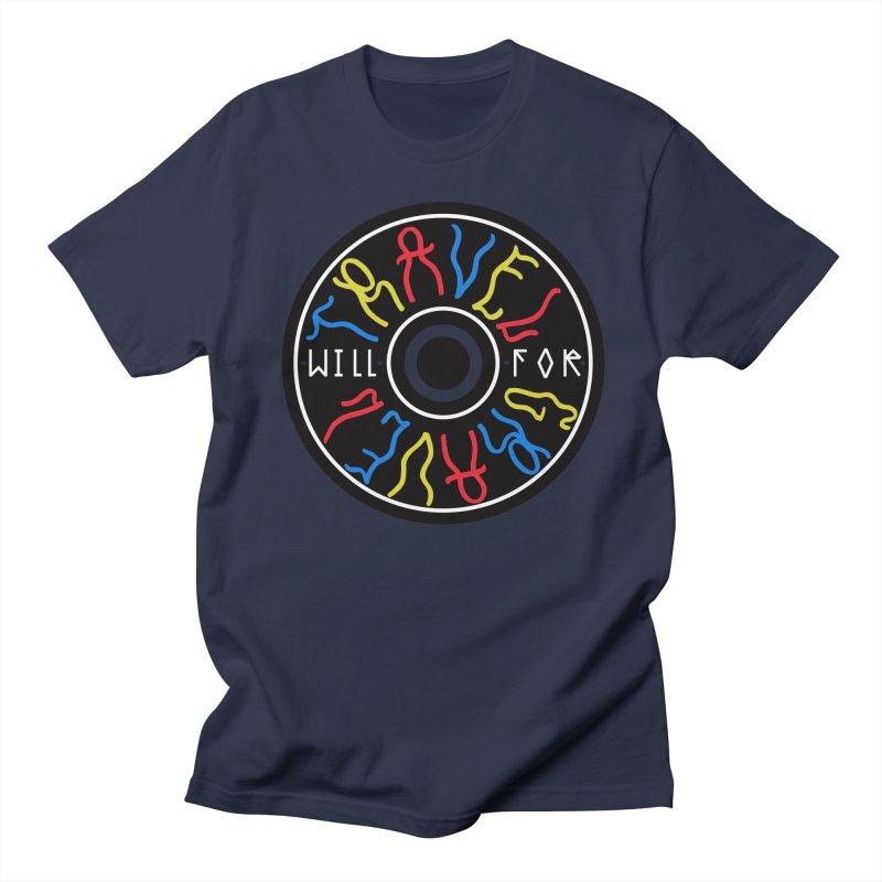 Will Travel For Gravel Men's Regular T-Shirt by DustinKlein's Artist Shop
