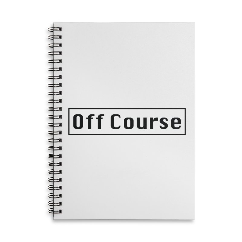 Off Course Accessories Lined Spiral Notebook by Dustin Klein's Artist Shop