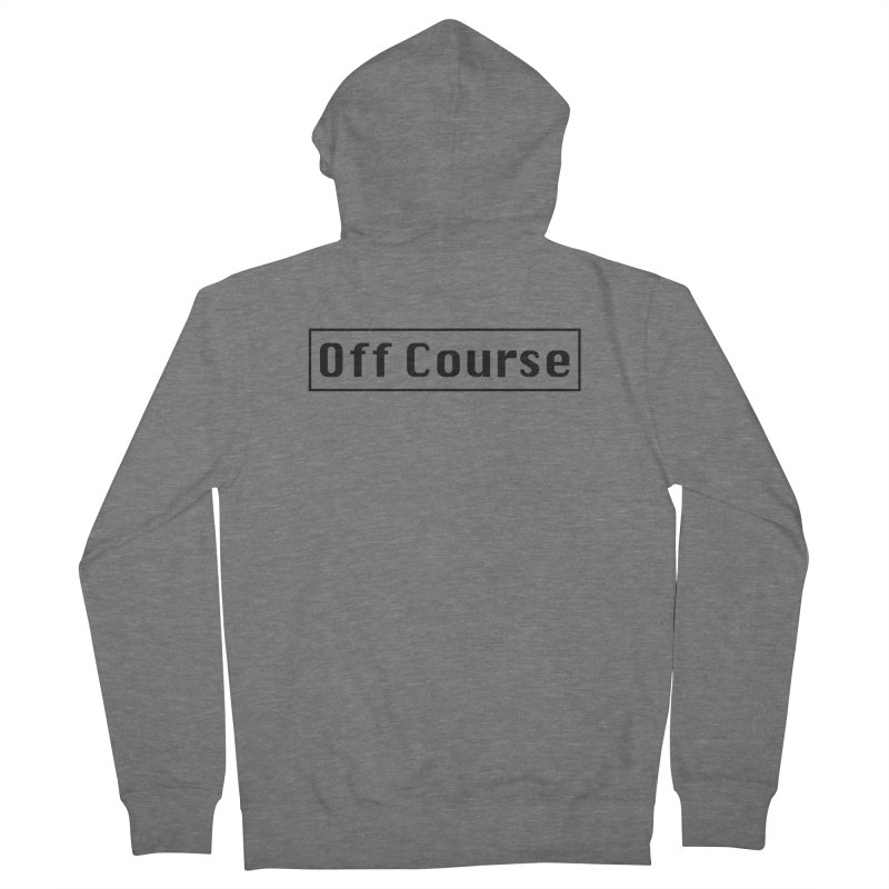 Off Course Men's French Terry Zip-Up Hoody by Dustin Klein's Artist Shop