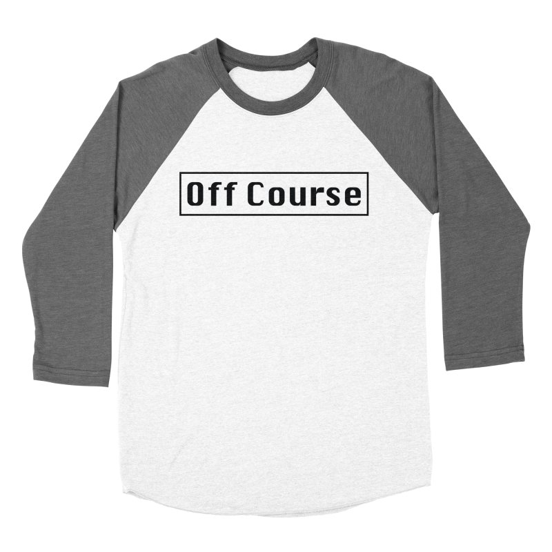 Off Course Men's Baseball Triblend Longsleeve T-Shirt by Dustin Klein's Artist Shop