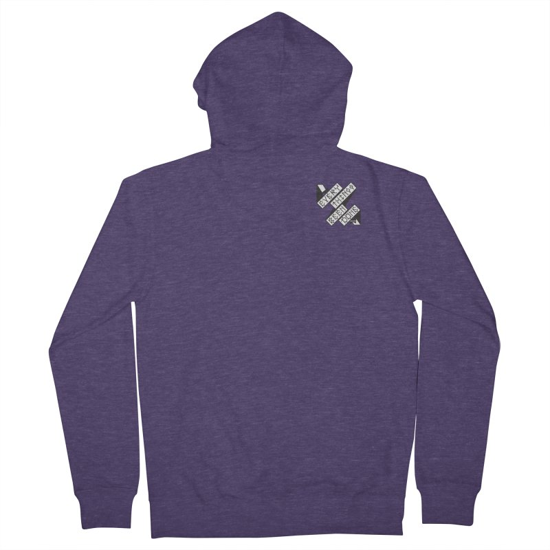 EBD Small chest hit Men's French Terry Zip-Up Hoody by Dustin Klein's Artist Shop