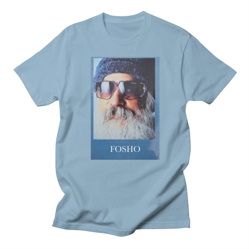 Fosho in Men's Regular T-Shirt Light Blue by DustinKlein's Artist Shop