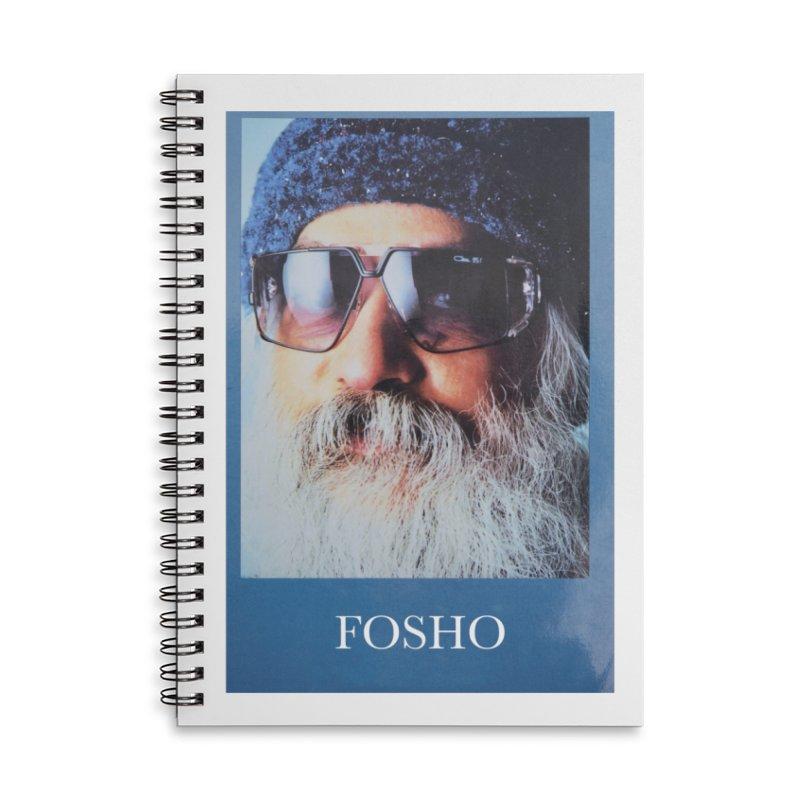 Fosho Accessories Lined Spiral Notebook by Dustin Klein's Artist Shop