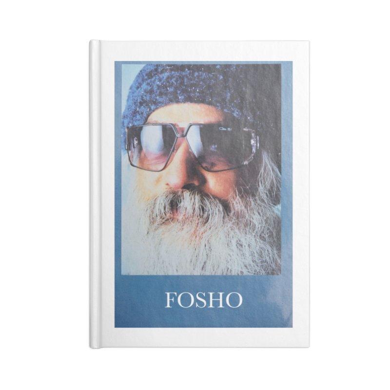Fosho Accessories Lined Journal Notebook by Dustin Klein's Artist Shop