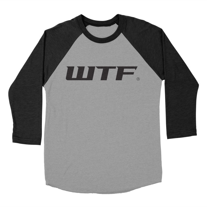 WTF Men's Baseball Triblend T-Shirt by DustinKlein's Artist Shop