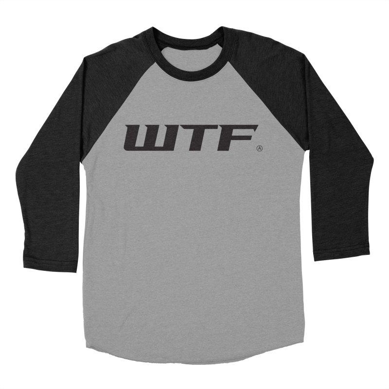 WTF Men's Baseball Triblend Longsleeve T-Shirt by Dustin Klein's Artist Shop