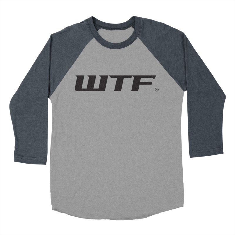 WTF Men's Baseball Triblend Longsleeve T-Shirt by Dustin Klein's Artist Shop