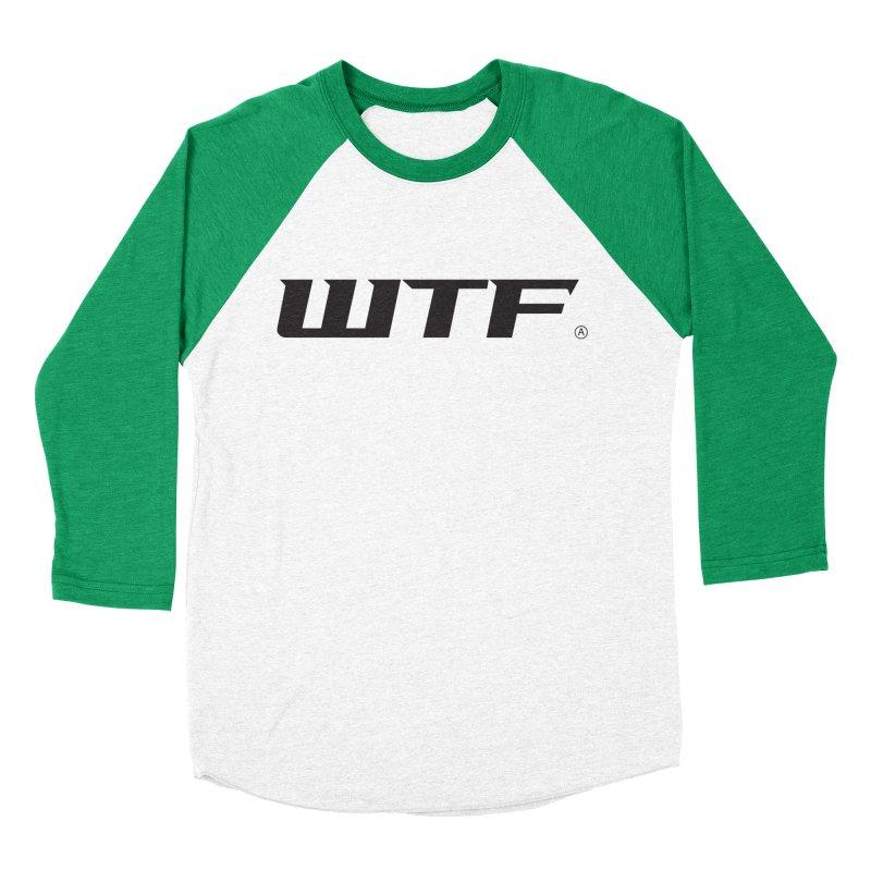 WTF Men's Baseball Triblend Longsleeve T-Shirt by DustinKlein's Artist Shop