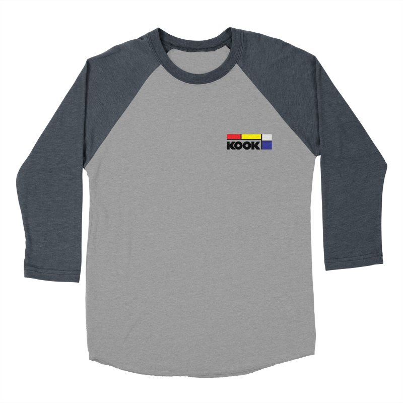 Kook Men's Baseball Triblend Longsleeve T-Shirt by DustinKlein's Artist Shop
