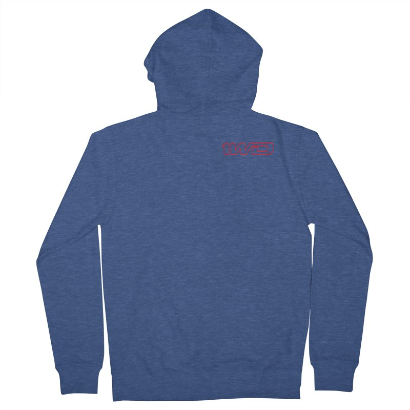 1 WD Women's French Terry Zip-Up Hoody by Dustin Klein's Artist Shop