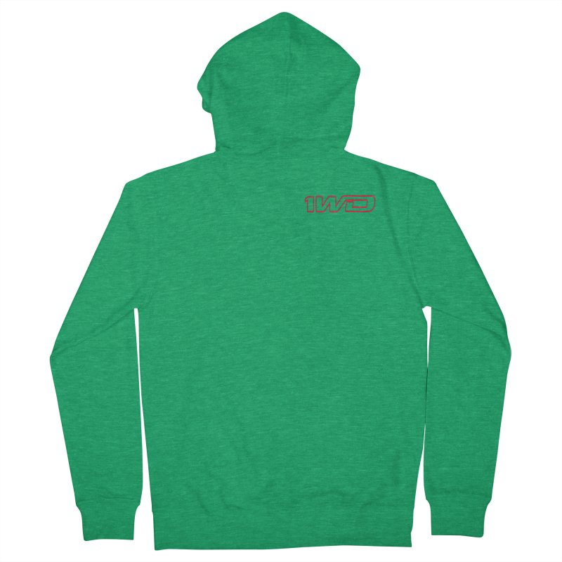 1 WD Men's French Terry Zip-Up Hoody by DustinKlein's Artist Shop