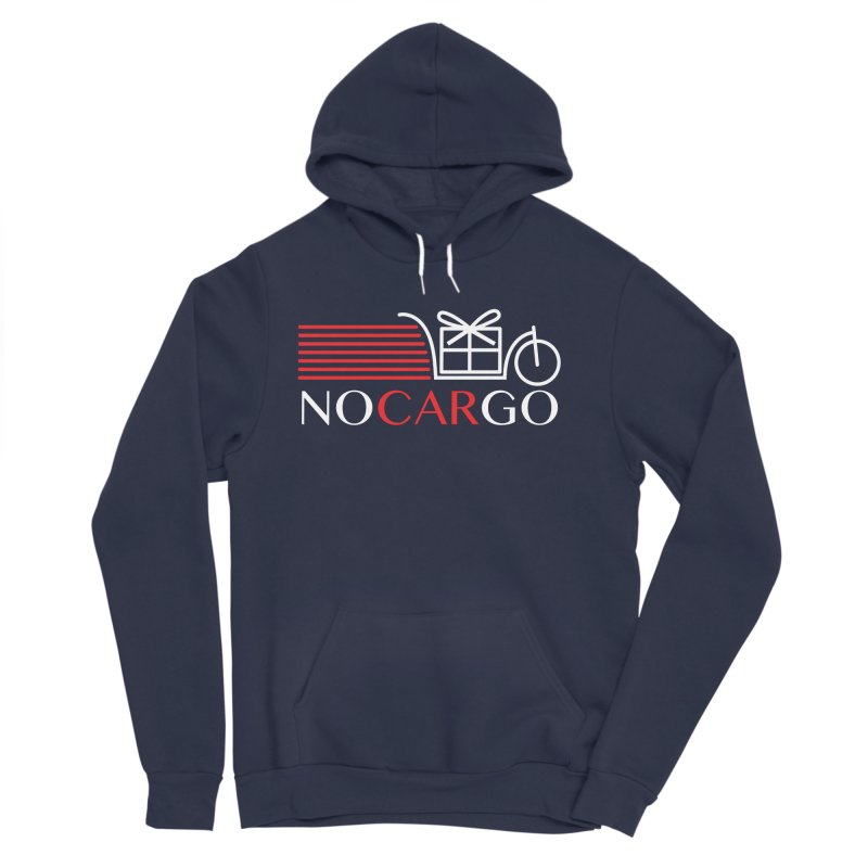 No Car Go in Men's Sponge Fleece Pullover Hoody Navy by Dustin Klein's Artist Shop