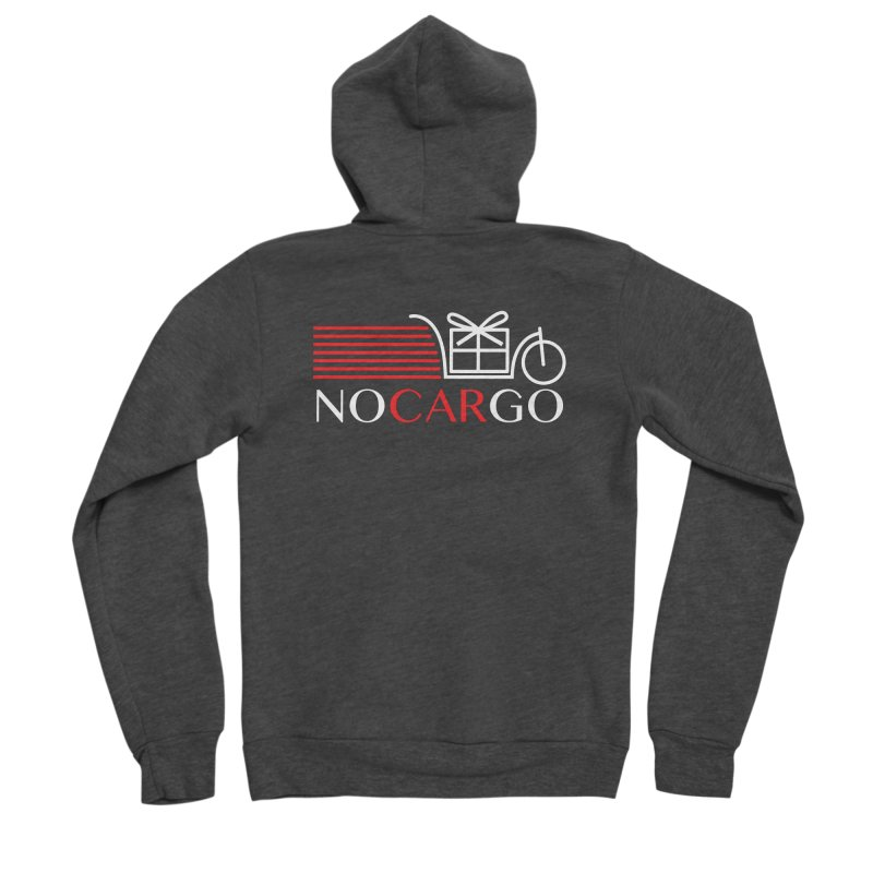No Car Go Men's Zip-Up Hoody by Dustin Klein's Artist Shop