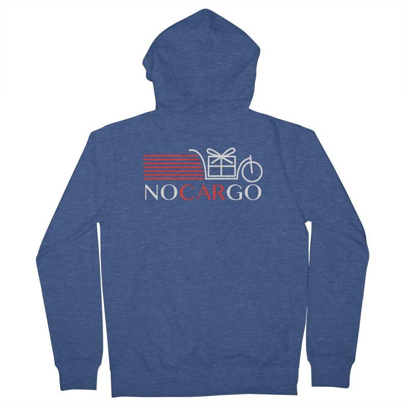 No Car Go Women's French Terry Zip-Up Hoody by Dustin Klein's Artist Shop