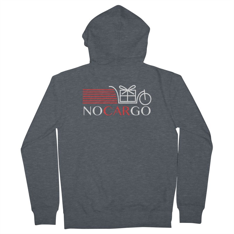 No Car Go Men's French Terry Zip-Up Hoody by Dustin Klein's Artist Shop