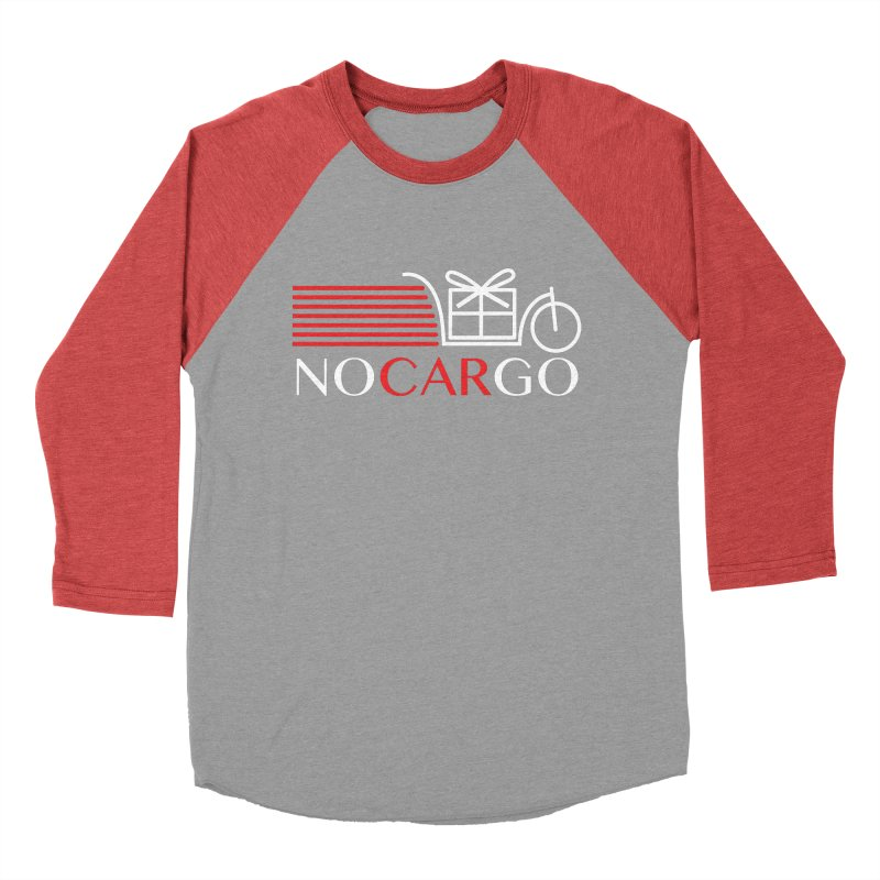 No Car Go Women's Baseball Triblend Longsleeve T-Shirt by Dustin Klein's Artist Shop