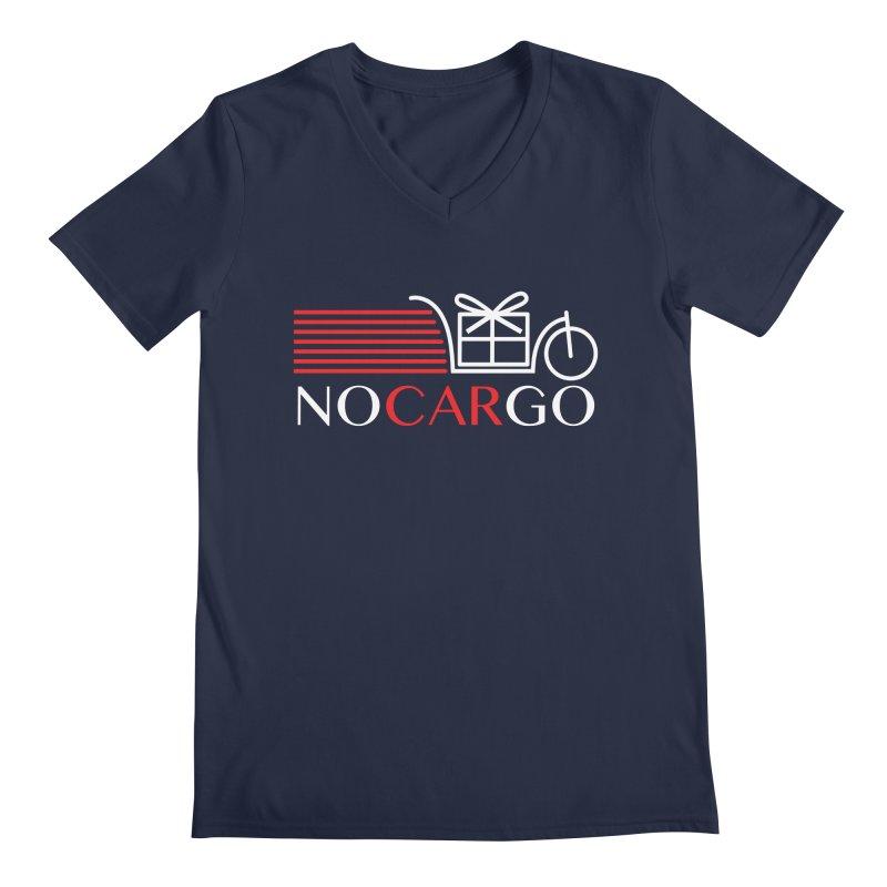 No Car Go Men's Regular V-Neck by Dustin Klein's Artist Shop