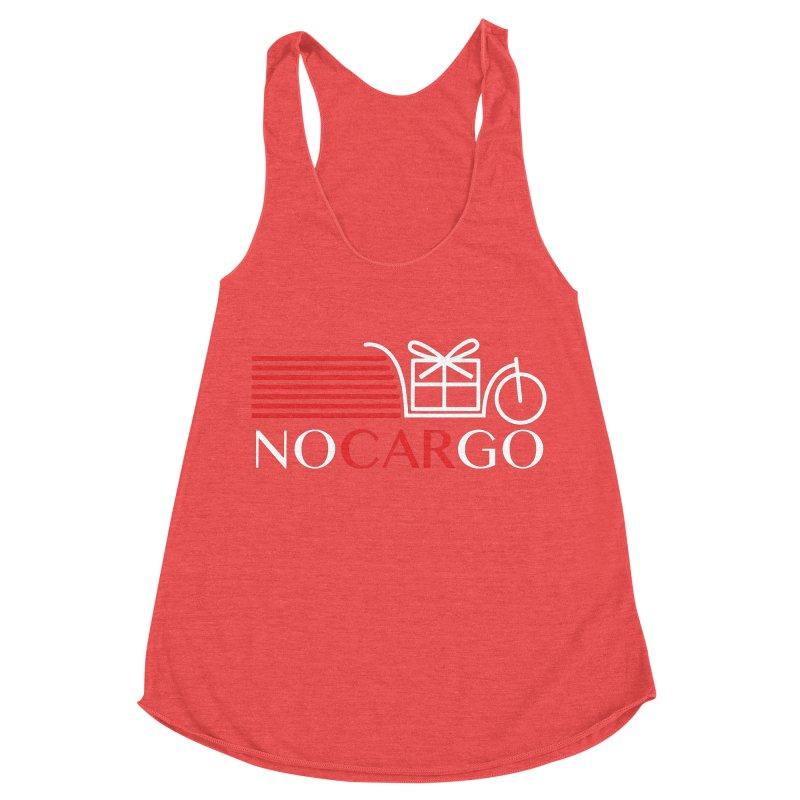 No Car Go Women's Racerback Triblend Tank by Dustin Klein's Artist Shop