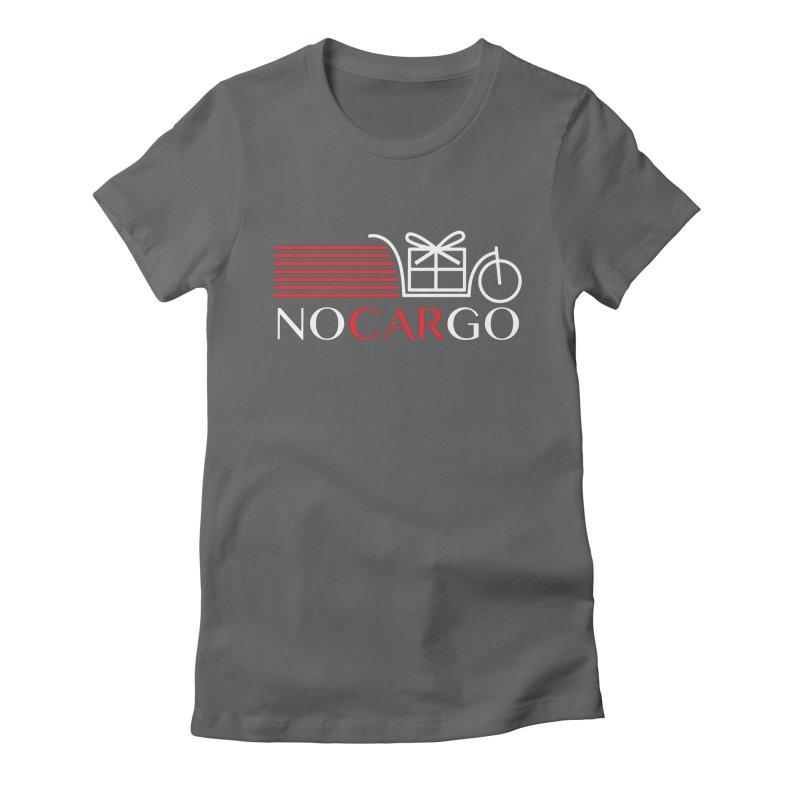 No Car Go Women's Fitted T-Shirt by Dustin Klein's Artist Shop