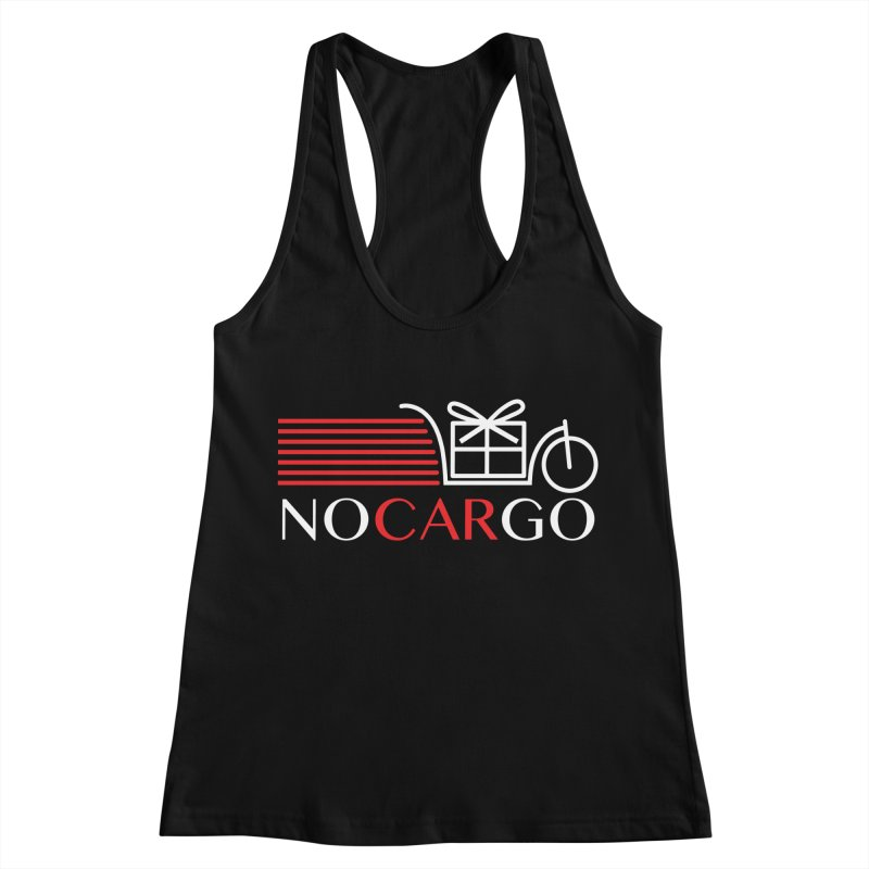 No Car Go Women's Racerback Tank by Dustin Klein's Artist Shop