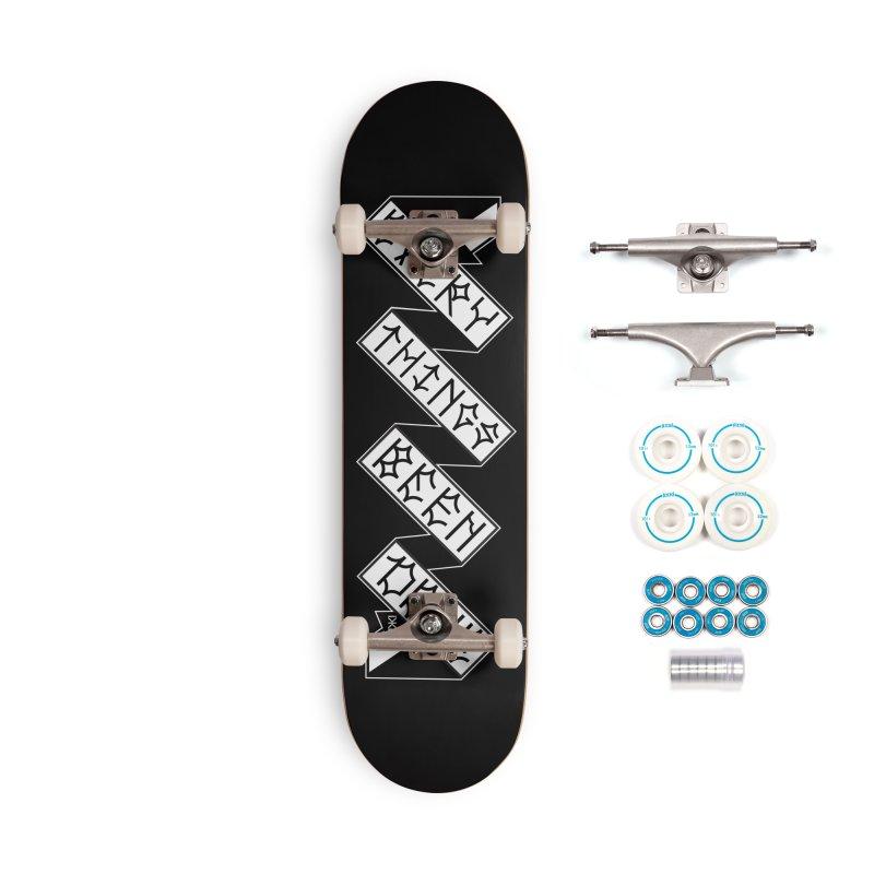 EBD TRICK STICK Accessories Complete - Basic Skateboard by Dustin Klein's Artist Shop