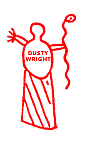 DustyWright's Artist Shop Logo