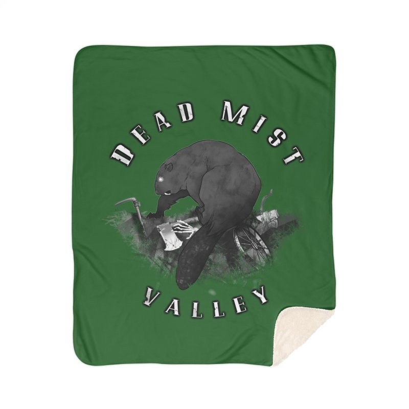 Oregon - Dead Mist Valley Home Sherpa Blanket Blanket by Dystopia Rising's Artist Shop
