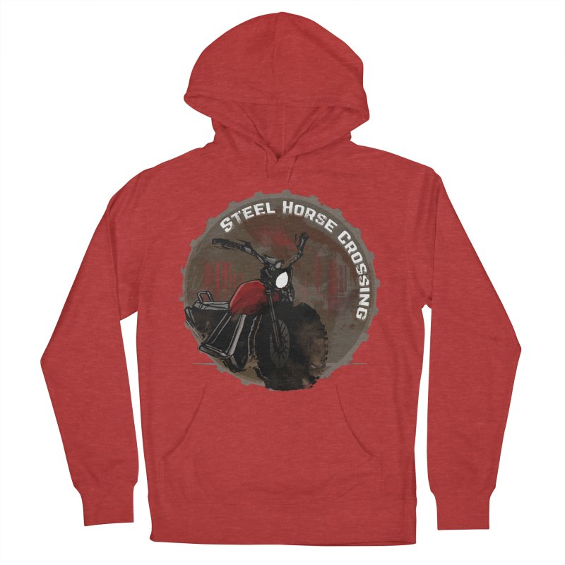 Wisconsin - Steel Horse Crossing Men's French Terry Pullover Hoody by Dystopia Rising's Artist Shop