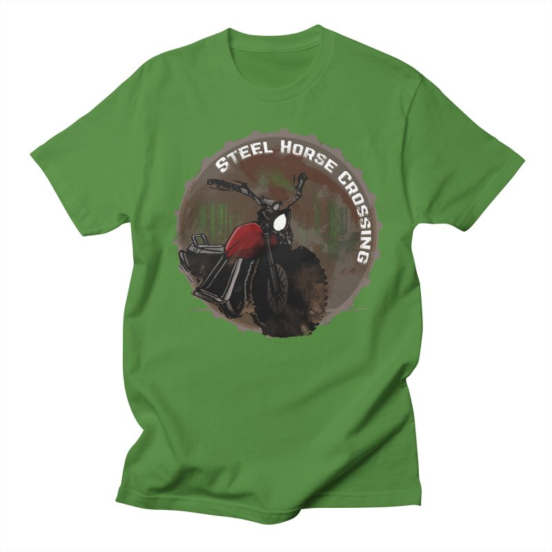 Wisconsin - Steel Horse Crossing Men's Regular T-Shirt by Dystopia Rising's Artist Shop