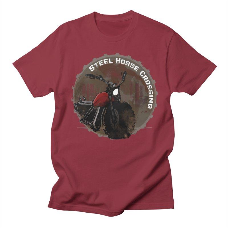 Wisconsin - Steel Horse Crossing Men's T-Shirt by Dystopia Rising's Artist Shop