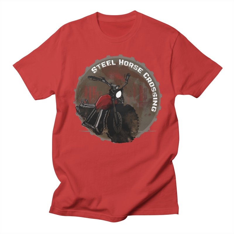 Wisconsin - Steel Horse Crossing Men's Regular T-Shirt by DystopiaRising's Artist Shop