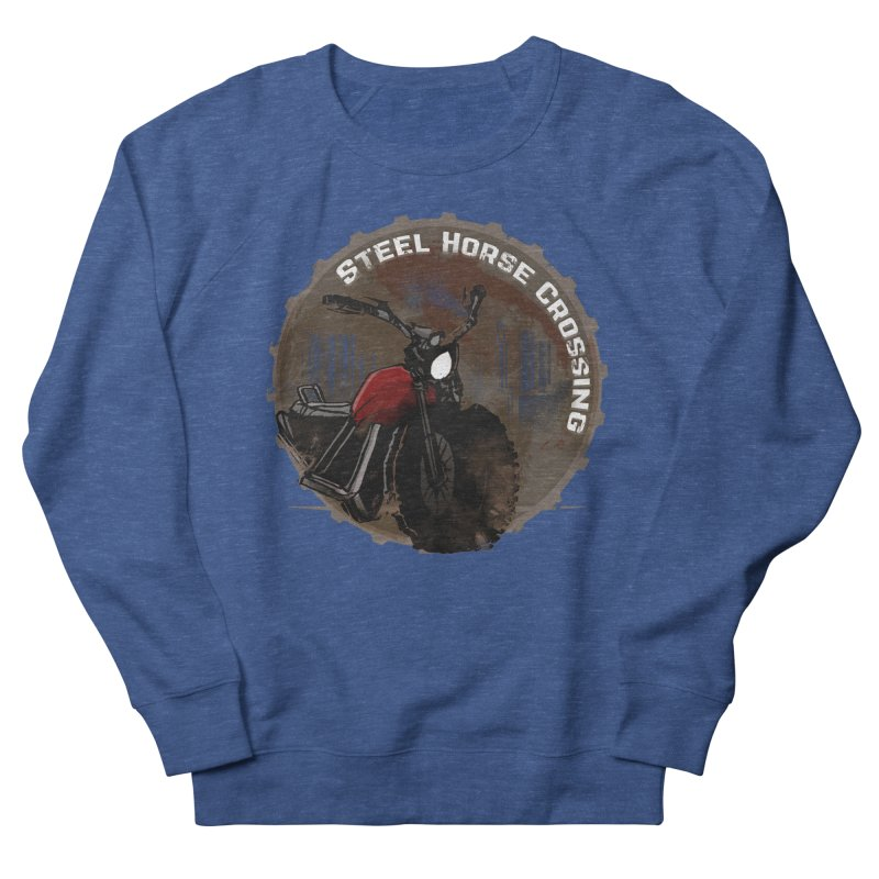 Wisconsin - Steel Horse Crossing Women's French Terry Sweatshirt by DystopiaRising's Artist Shop