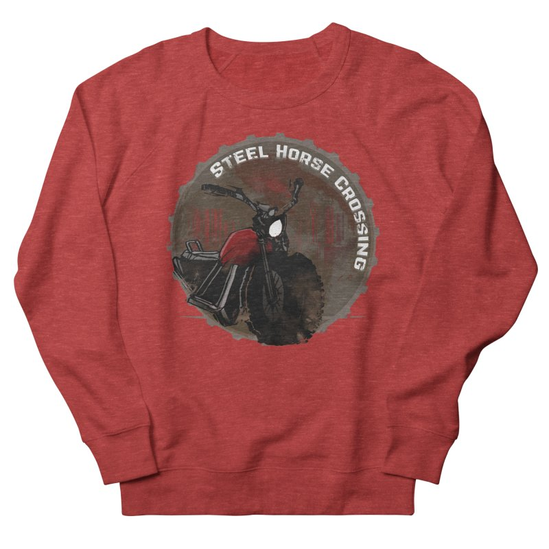 Wisconsin - Steel Horse Crossing Women's French Terry Sweatshirt by Dystopia Rising's Artist Shop