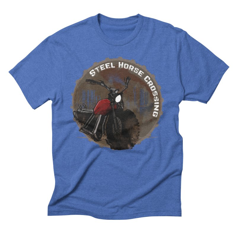 Wisconsin - Steel Horse Crossing Men's Triblend T-Shirt by DystopiaRising's Artist Shop