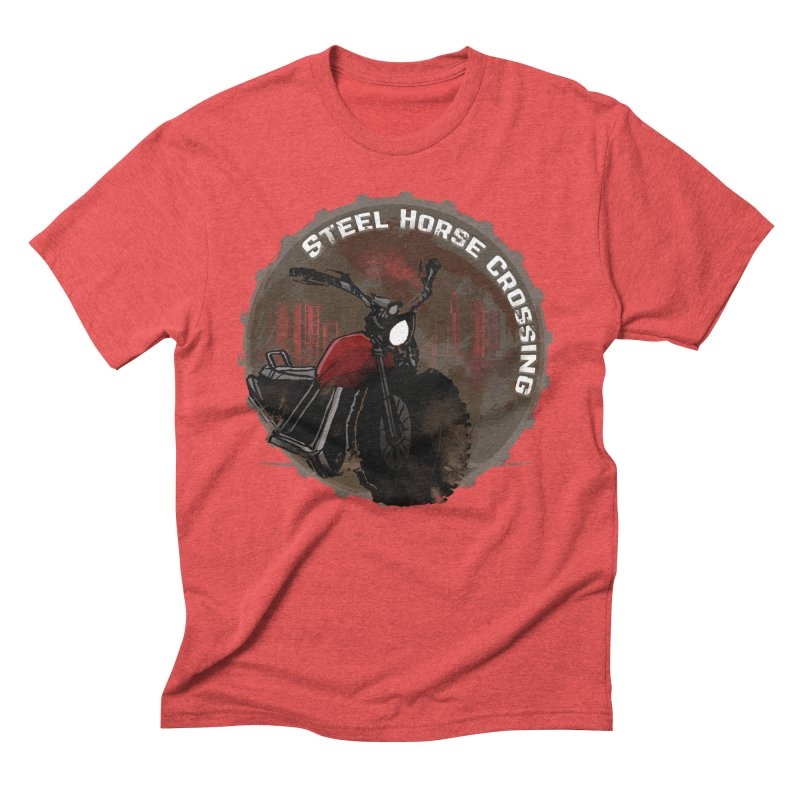 Wisconsin - Steel Horse Crossing Men's Triblend T-Shirt by Dystopia Rising's Artist Shop