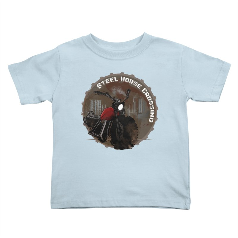 Wisconsin - Steel Horse Crossing Kids Toddler T-Shirt by Dystopia Rising's Artist Shop