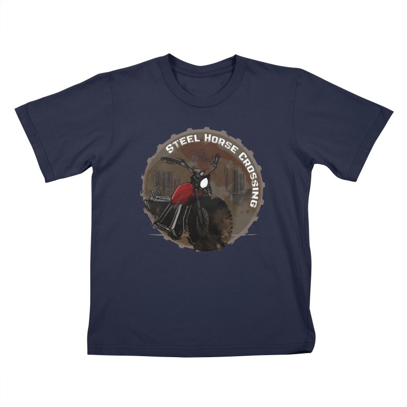 Wisconsin - Steel Horse Crossing Kids T-Shirt by Dystopia Rising's Artist Shop