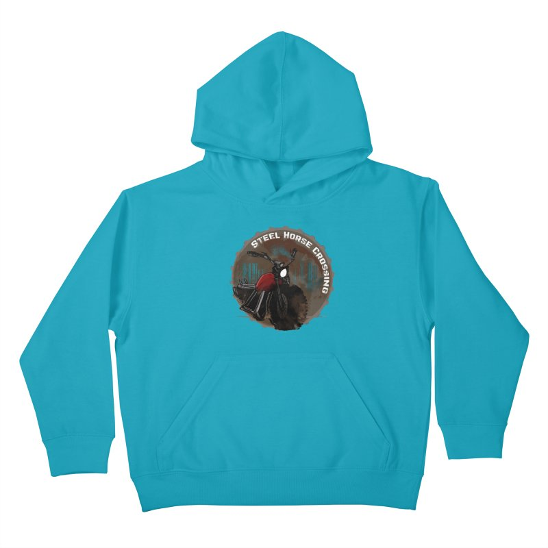 Wisconsin - Steel Horse Crossing Kids Pullover Hoody by Dystopia Rising's Artist Shop