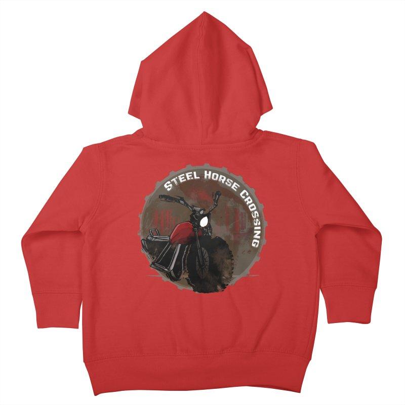 Wisconsin - Steel Horse Crossing Kids Toddler Zip-Up Hoody by Dystopia Rising's Artist Shop