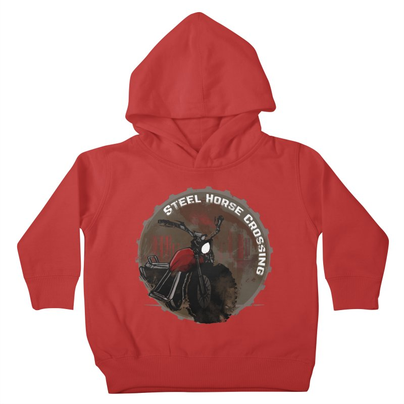 Wisconsin - Steel Horse Crossing Kids Toddler Pullover Hoody by Dystopia Rising's Artist Shop