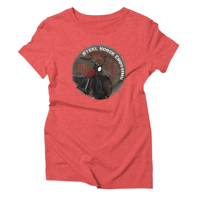 Wisconsin - Steel Horse Crossing Women's Triblend T-Shirt by Dystopia Rising's Artist Shop