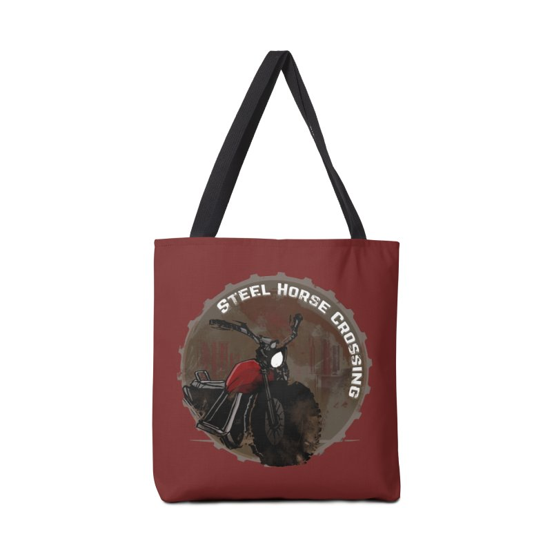 Wisconsin - Steel Horse Crossing Accessories Tote Bag Bag by Dystopia Rising's Artist Shop