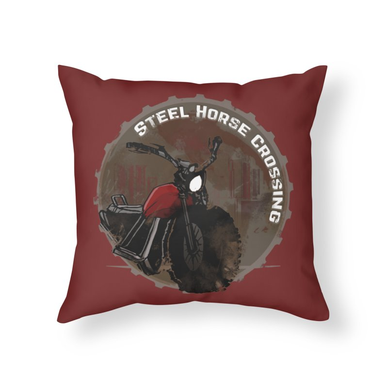 Wisconsin - Steel Horse Crossing Home Throw Pillow by Dystopia Rising's Artist Shop