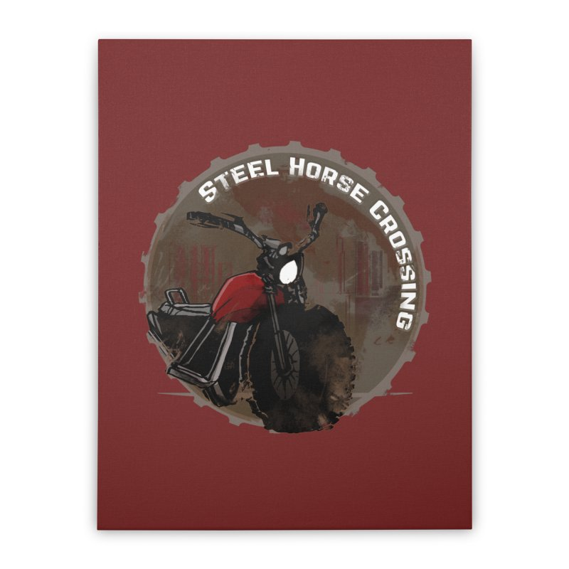 Wisconsin - Steel Horse Crossing Home Stretched Canvas by Dystopia Rising's Artist Shop