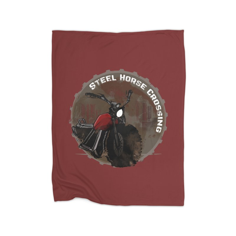 Wisconsin - Steel Horse Crossing Home Blanket by Dystopia Rising's Artist Shop
