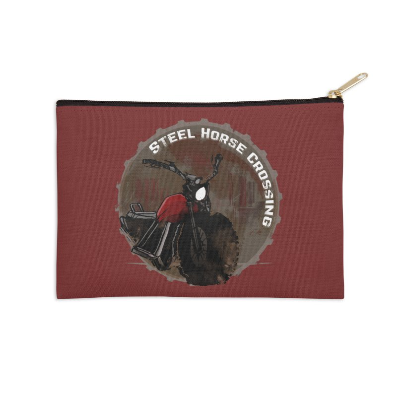 Wisconsin - Steel Horse Crossing Accessories Zip Pouch by Dystopia Rising's Artist Shop