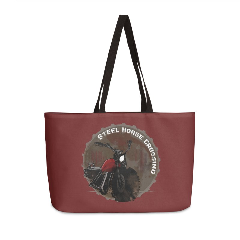Wisconsin - Steel Horse Crossing Accessories Weekender Bag Bag by Dystopia Rising's Artist Shop